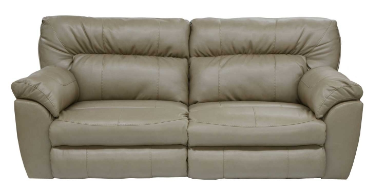 Nolan Leather Extra Wide Power Reclining Sofa - Putty