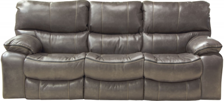 Camden Power Lay Flat Reclining Sofa - Steel