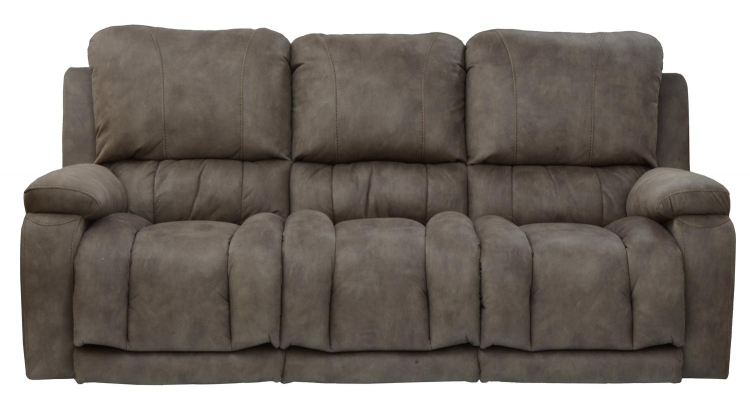 Cosmopolitan Lay Flat Reclining Sofa with X-tra Comfort Footrest - Pecan