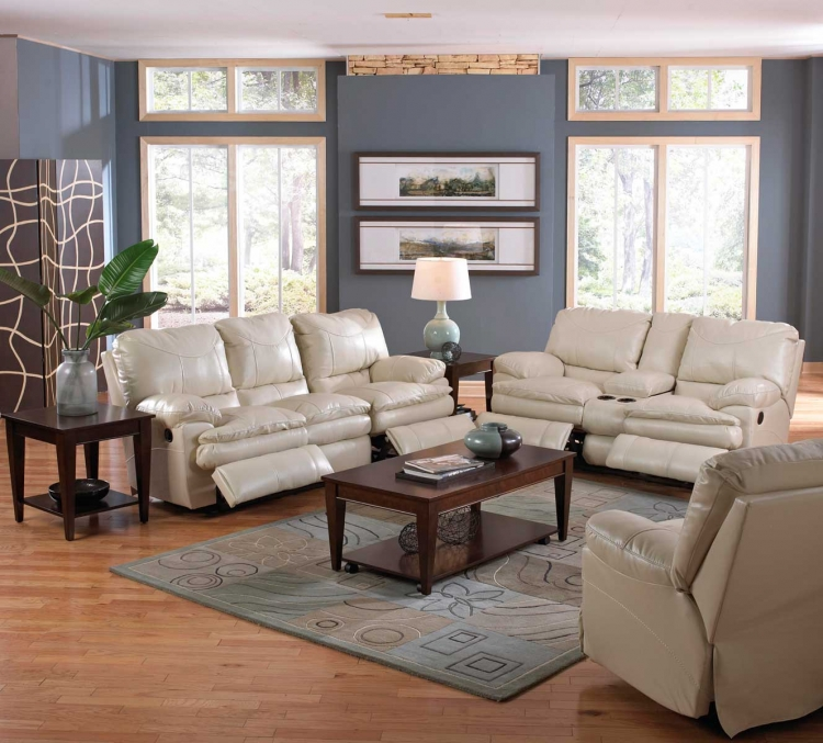 Perez Power Reclining Sofa Set - Ice
