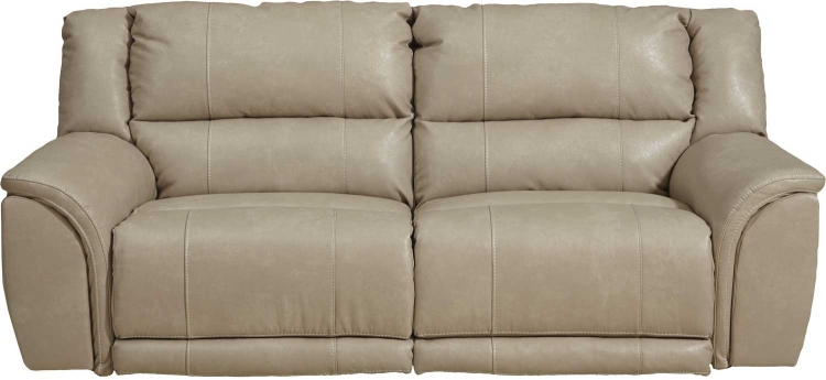 Carmine Lay Flat Reclining Sofa - Pebble