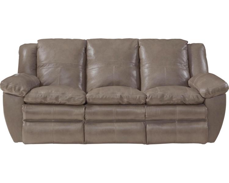 Aria Top Grain Italian Leather Lay Flat Power Reclining Sofa - Smoke