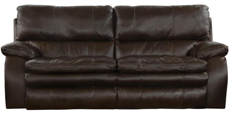 Verona Power Headrest Power Lumbar Power Reclining Sofa - Chocolate