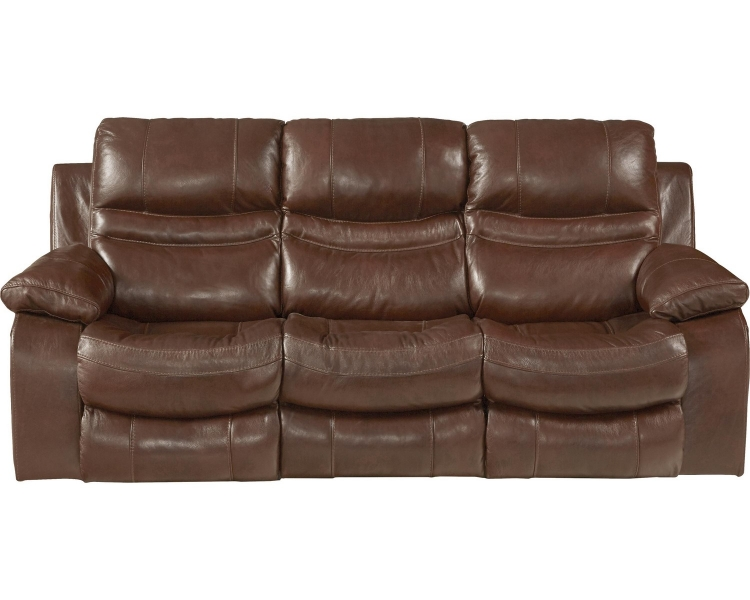 Patton Top Grain Italian Leather Lay Flat Reclining Sofa - Walnut