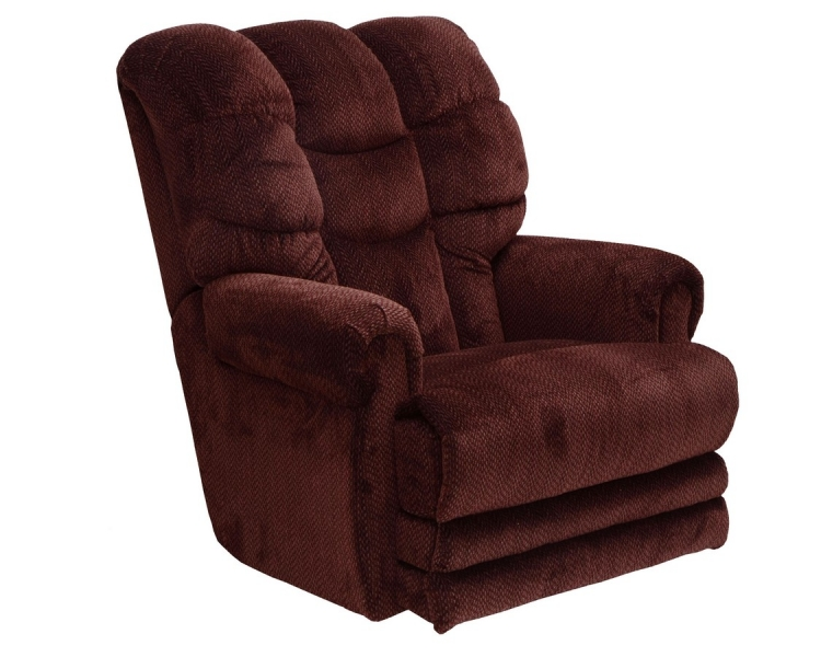 Malone Power Lay Flat Recliner with Extended Ottoman - Vino