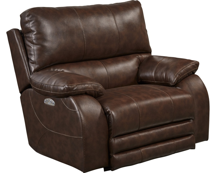 Sheridan Power Headrest Power Lay Flat Recliner - Java