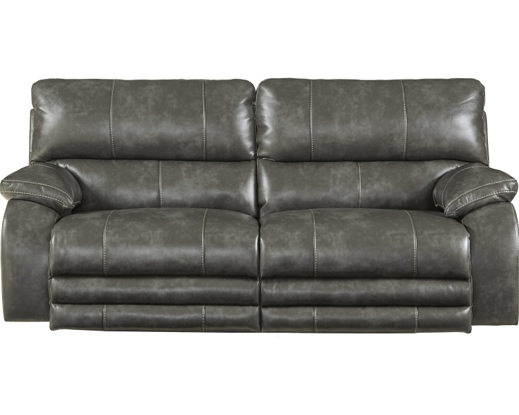 Sheridan Power Headrest Power Lay Flat Reclining Sofa - Steel