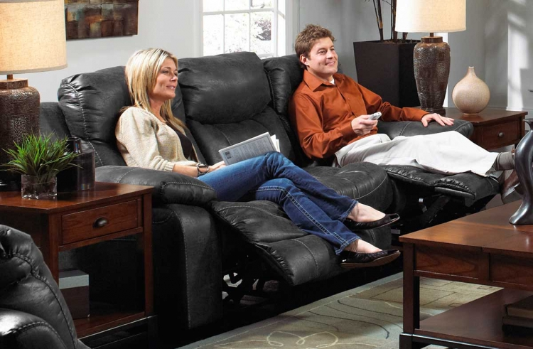 Catalina Power Reclining Sofa - Steel