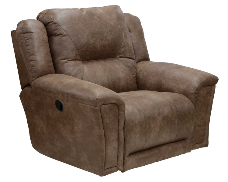 Collin Power Lay Flat Recliner with X-tra Comfort Footrest - Silt