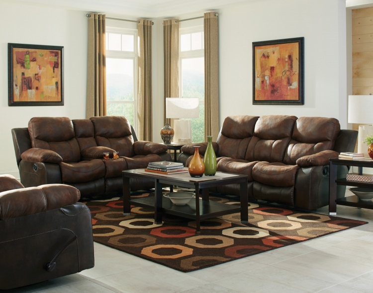 Henderson Power Reclining Sofa Set - Sunset