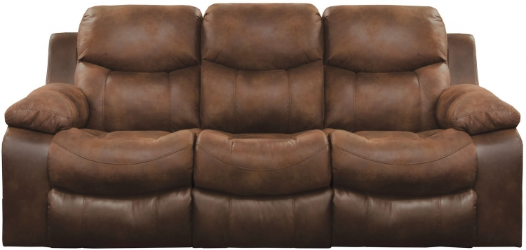 Henderson Reclining Sofa With Drop Down Table - Sunset