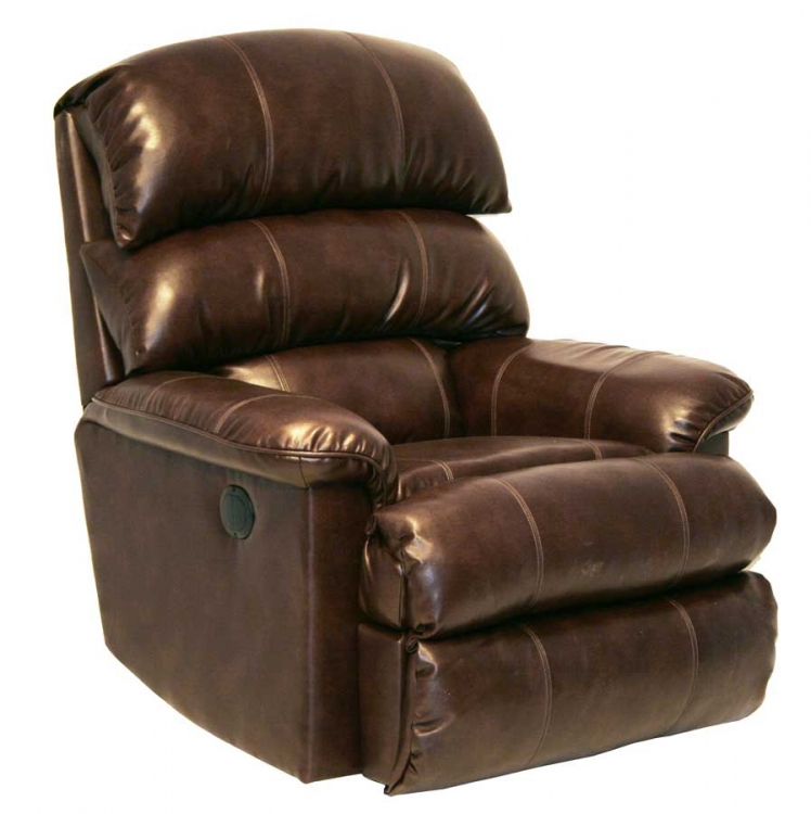 Templeton Bonded Leather Inch Away Wall Hugger Recliner - Chocolate