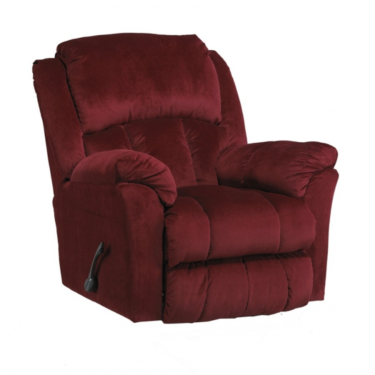 Gibson Swivel Glider Recliner - Berry