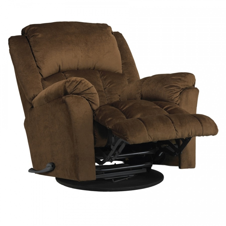 Gibson Swivel Glider Recliner - Walnut