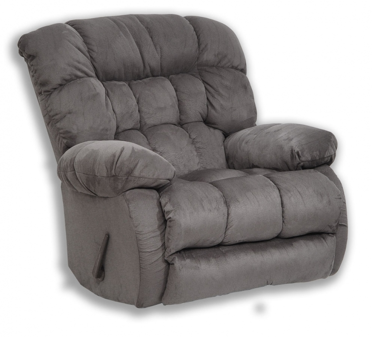 Teddy Bear Chaise Rocker Recliner - Graphite - Catnapper