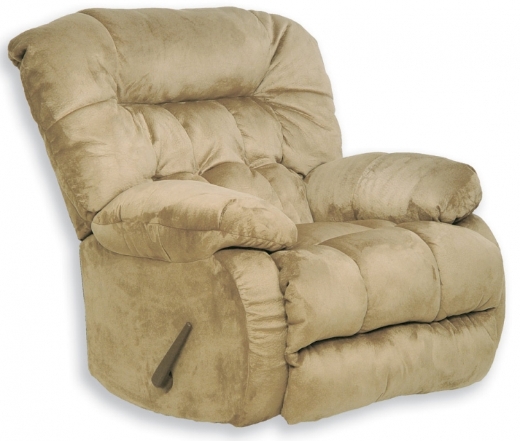 Teddy Bear Chaise Rocker Recliner - Hazelnut - Catnapper