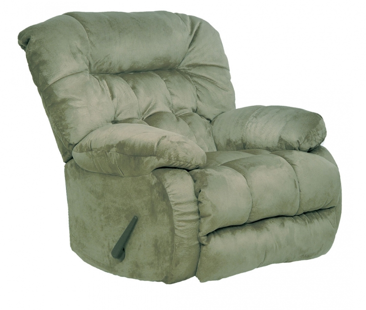 Teddy Bear Chaise Rocker Recliner - Sage - Catnapper