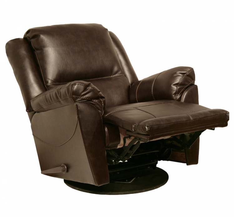 Maverick Chaise Swivel Glider Recliner - Java - Catnapper