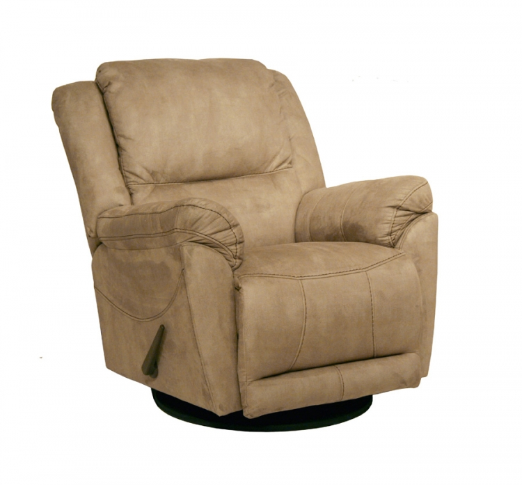 Maverick Chaise Swivel Glider Recliner - Stone - Catnapper