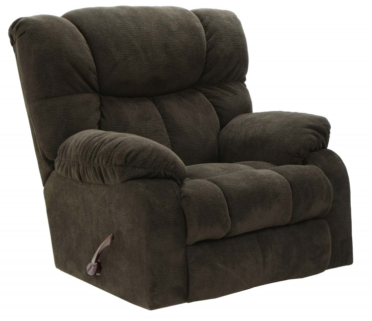 Popson X-tra Comfort Chaise Rocker Recliner - Chocolate