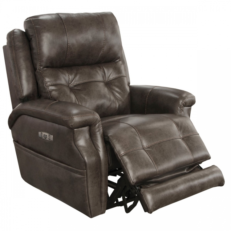 Kepley Power Headrest Power LumbarPower Lay Flat Recliner Extended Ottoman - Dusk