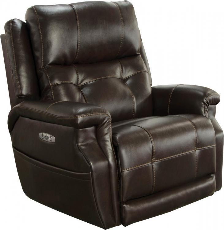 Kepley Power Headrest Power Lumbar Power Lay Flat Recliner Extended Ottoman - Espresso