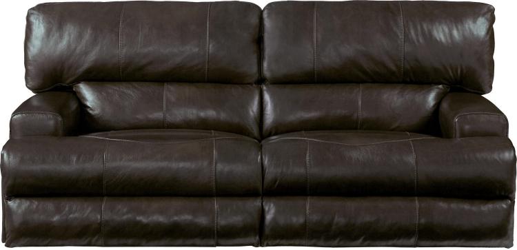Wembley Top Grain Italian Leather Leather Lay Flat Reclining Sofa - Chocolate
