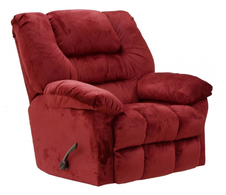 Peyton Rocker Recliner - Crimson