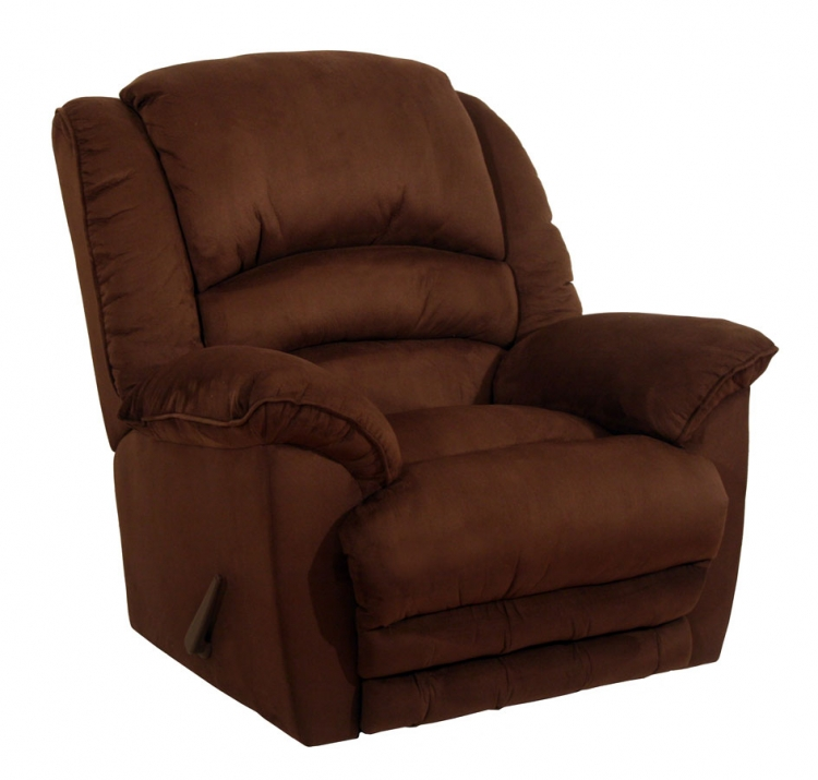 Revolver Chaise Rocker Recliner with Heat and Massage and X-tra Comfort Ottoman - Chocolate - Catnapper