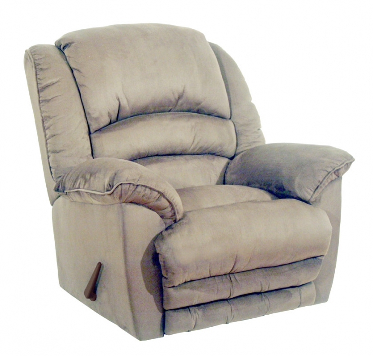 Revolver Chaise Rocker Recliner with Heat and Massage and X-tra Comfort Ottoman - Hazelnut - Catnapper