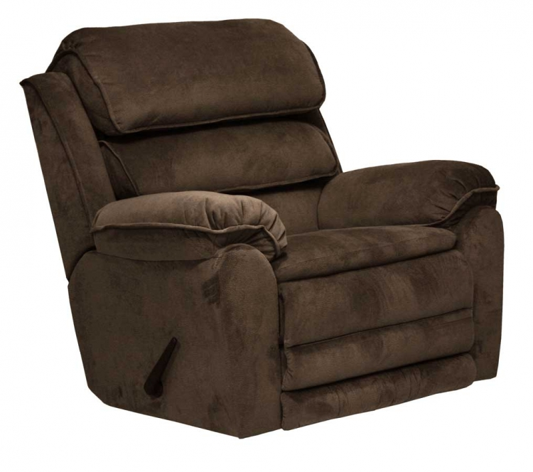 Vista Chaise Rocker Recliner with X-tra Comfort Footrest - Chocolate - Catnapper