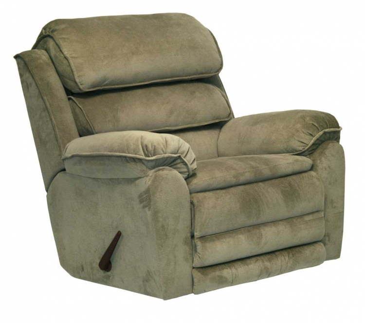 Vista Chaise Rocker Recliner with X-tra Comfort Footrest - Sage - Catnapper