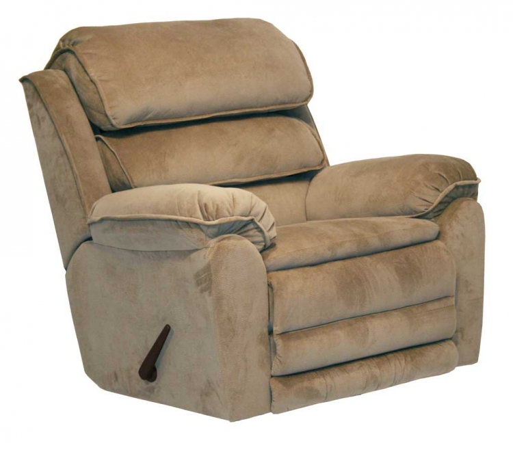 Vista Chaise Wall Hugger Power Recliner with X-tra Comfort Footrest - Sandelwood - Catnapper
