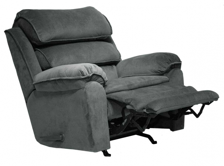 Vista Chaise Wall Hugger Power Recliner with X-tra Comfort Footrest - Thunder - Catnapper