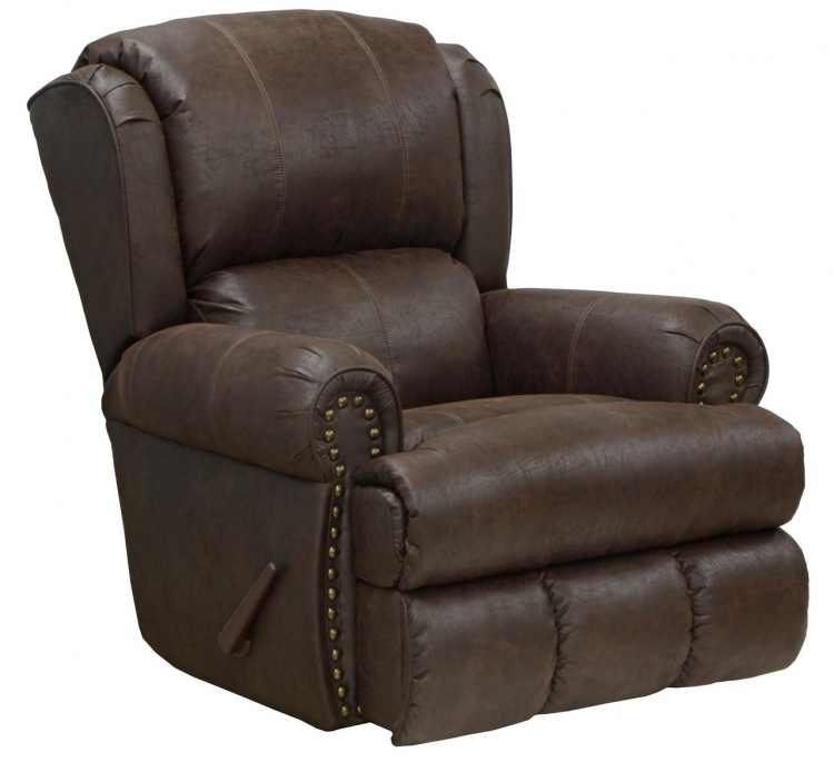 Dempsey Bonded Leather Deluxe Power Lay Flat Recliner - Sable - Catnapper
