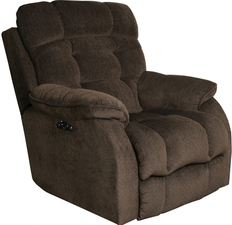 Crowley Power Lay Flat Recliner With Power Headrest - Espresso