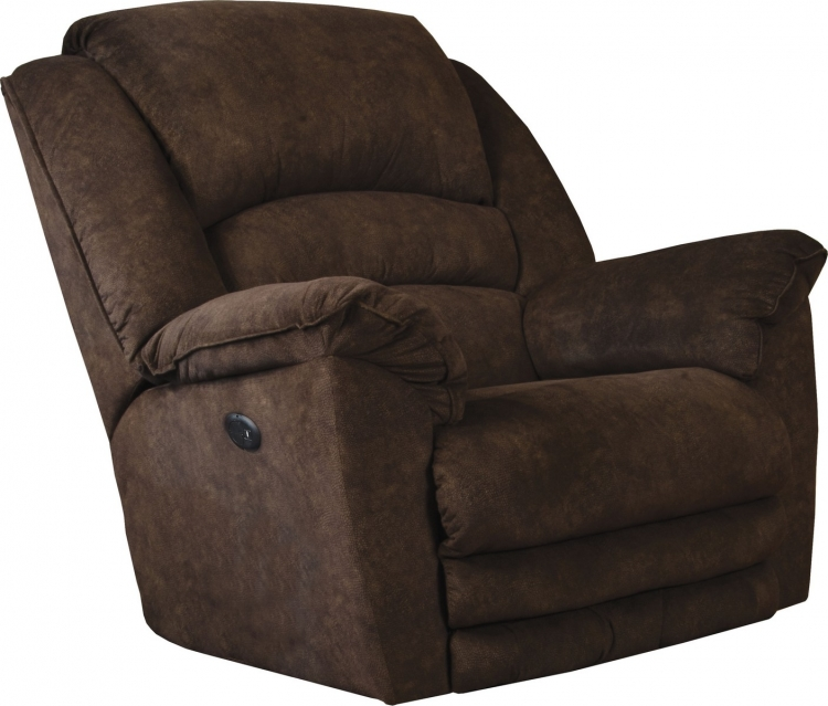Rialto Power Lay Flat Recliner with Extended Ottoman - Chocolate