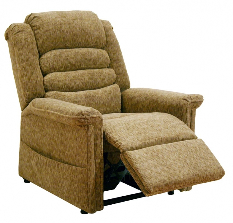 Soother Power Lift Full Lay-Out Chaise Recliner with Heat and Massage - Autumn