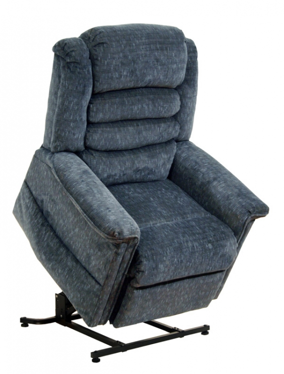 Soother Power Lift Full Lay-Out Chaise Recliner with Heat and Massage - Galaxy - Catnapper