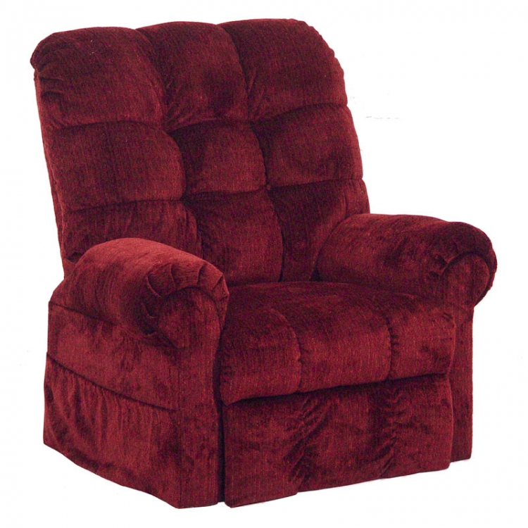 Omni Power Lift Full Lay-Out Chaise Recliner - Chianti