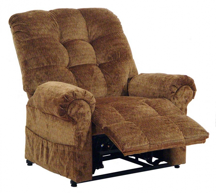 Omni Power Lift Full Lay-Out Chaise Recliner - Havana