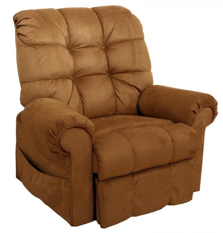 Omni Power Lift Full Lay-Out Chaise Recliner - Saddle