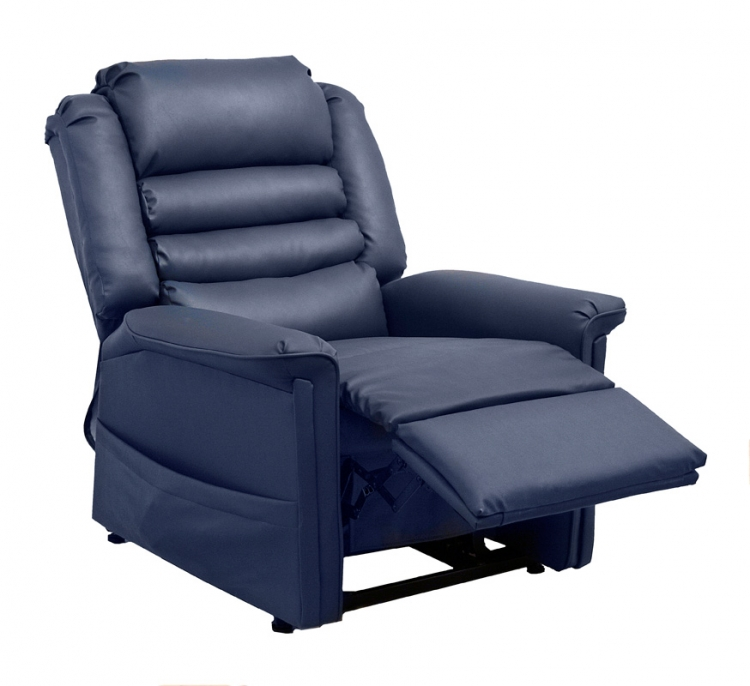 Invincible Power Lift Full Lay-Out Chaise Recliner - Deep Sapphire