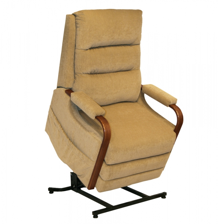 Emerson Power Lift Full Lay-Out Recliner - Tan - Catnapper
