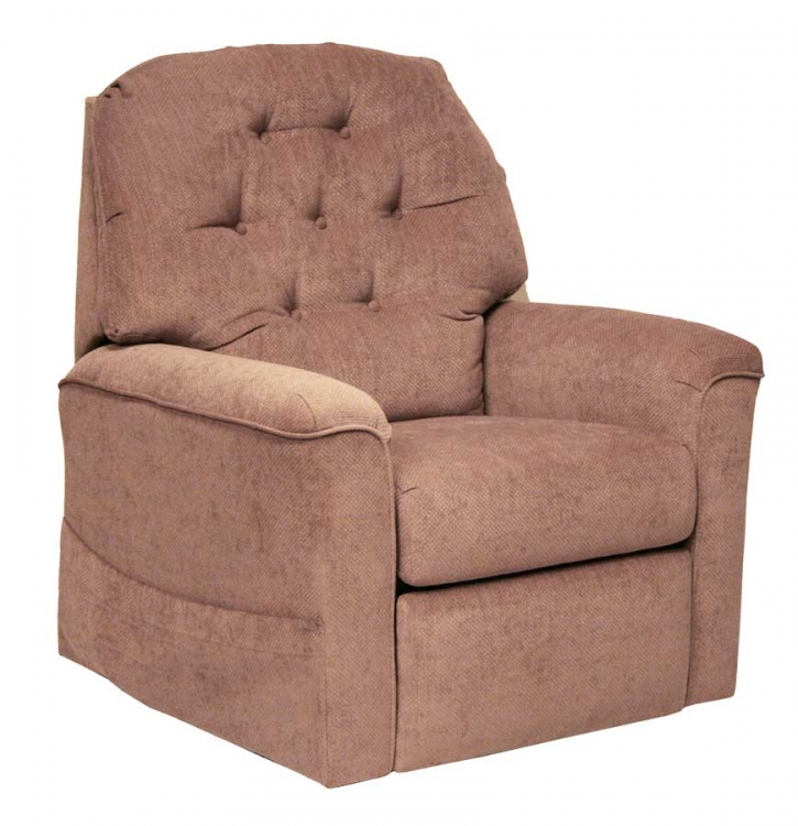 Embrace Power Lift Full Lay-Out Chaise Recliner with Heat and Massage - Mauve - Catnapper