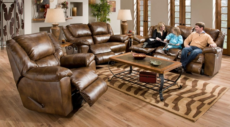 Transformer Bonded Leather Sofa Set - Toast - Catnapper
