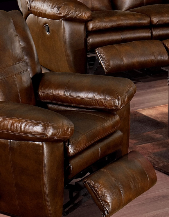 Sonoma Top Grain Leather Rocker Recliner - Sable - Catnapper