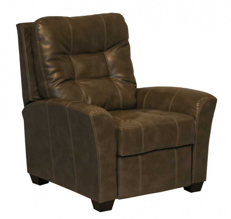 Cooper Bonded Leather No Handle Multi Position Reclining Chair - Molasses - Catnapper