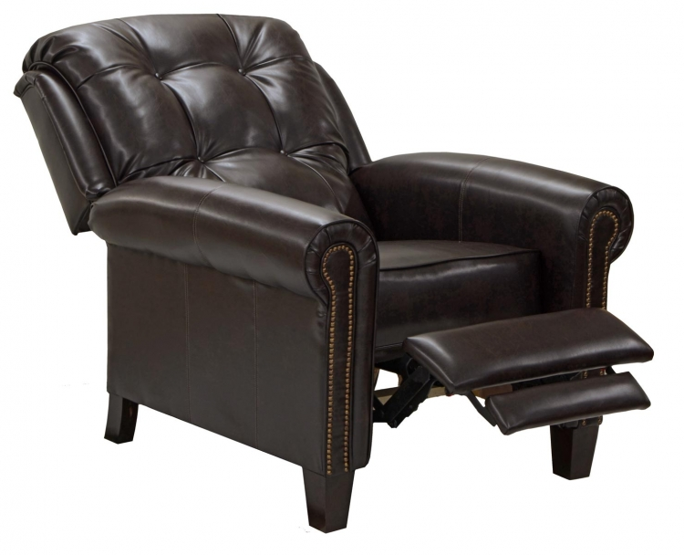 Niles Bonded Leather Touch Reclining Chair - Walnut