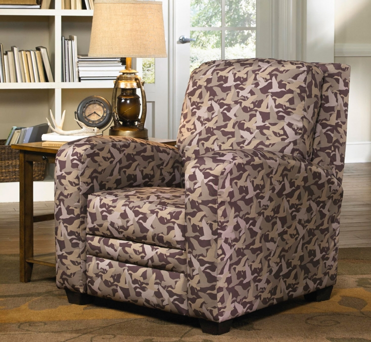 Duck Dynasty Mallard Creek Multi-Position Handle Free Recliner - Duck Camo